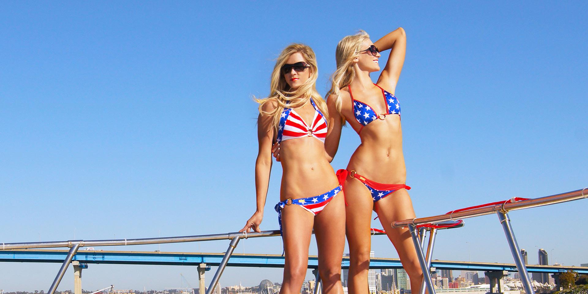 Flag Print Bikini