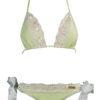 mint green bikini