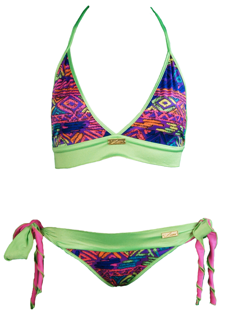 nikki beach limited neon green bikini water vixen swim. Black Bedroom Furniture Sets. Home Design Ideas