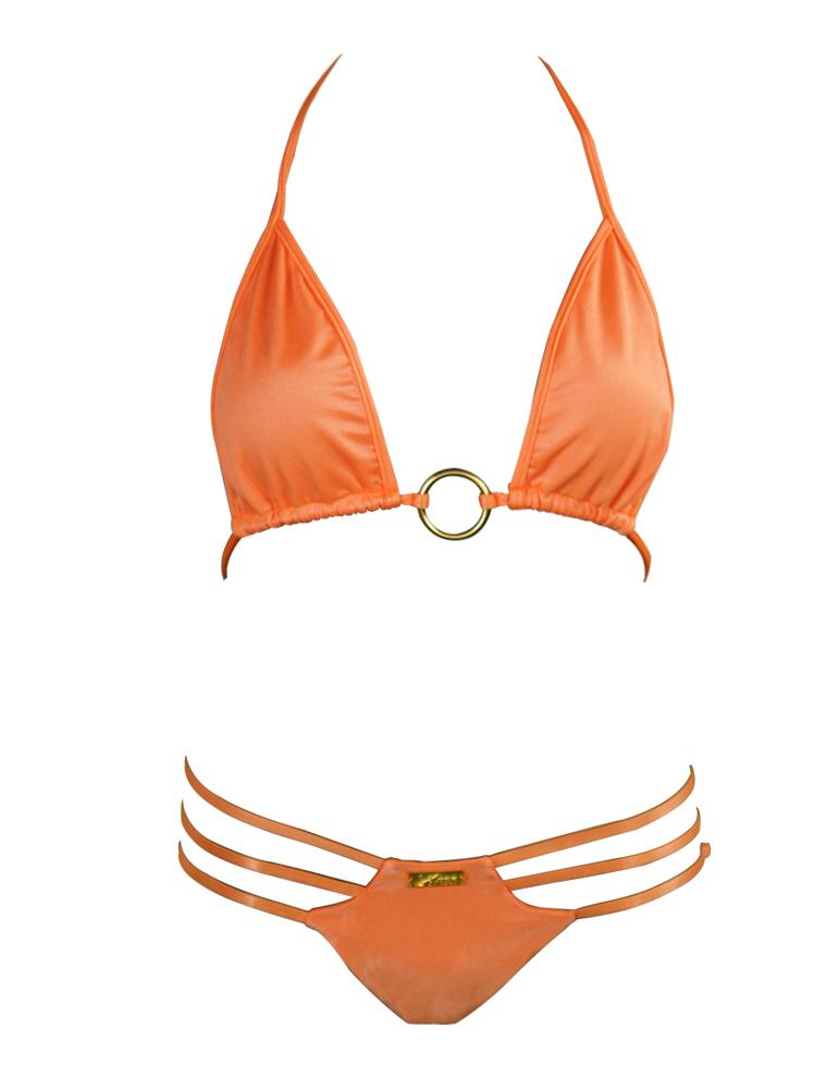 5eb44dce75630 Neon Orange Vixen Adjustable Brazilian Bikini Bottom