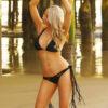 black fringe bikini