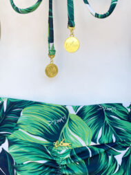 green palm leaves swimsuit